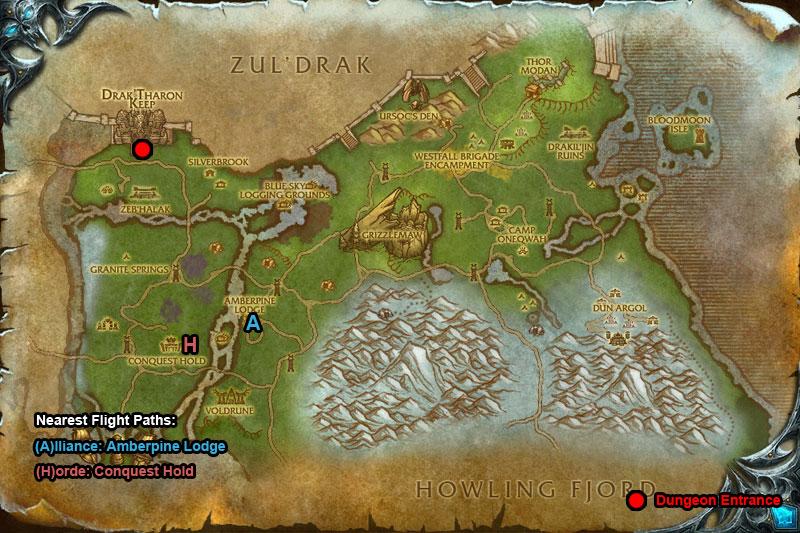 DrakTharon-Keep-Dungeon-Entrance-Map
